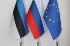 estrus ja EL lipukesed uudise avalehe pildinurka