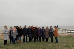 Joint photo of project group at Lake Peipsi within joint seminar in Estonia,  November 2019