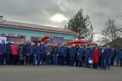 Project partners and volunteer fire brigades from Estonia and Russia in Palkino, Pskovsky region, February 2020