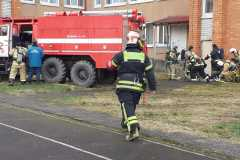 Joint training of volunteer fire brigades from Estonia and Russia in Palkino, Pskovsky region, February 2020