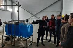 Pure water station in Cheryokha village, Pskovsky district, December 2019