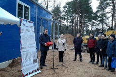 Opening of pure water station in Cheryokha village, Pskovsky district, December 2019