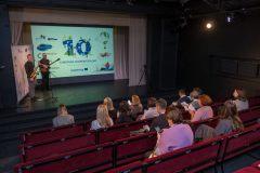 Россия. Санкт-Петербург. Театр Балтийский дом. День Европейского сотрудничества 2021 по программе приграничного сотрудничества Россия-Эстония 2014-2020.